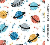 vector space seamless pattern...   Shutterstock .eps vector #1646768980