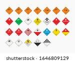 dangerous goods icons set... | Shutterstock .eps vector #1646809129