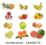 fruits collection | Shutterstock . vector #16468174