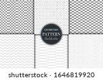 set of 6 black and white... | Shutterstock .eps vector #1646819920