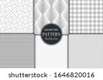 set of 6 black and white... | Shutterstock .eps vector #1646820016