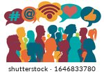 influencer.silhouette group of... | Shutterstock .eps vector #1646833780