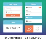ui kit set of beautiful...