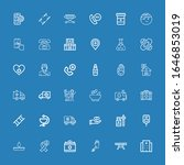 editable 36 ambulance icons for ... | Shutterstock .eps vector #1646853019