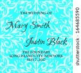 wedding card | Shutterstock .eps vector #164685590