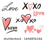 hugs and kisses and love signs | Shutterstock .eps vector #1646856166