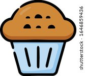 muffin cupcake hand drawn icon | Shutterstock .eps vector #1646859436