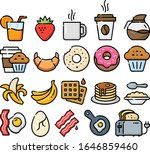 breakfast foods hand drawn icon ... | Shutterstock .eps vector #1646859460