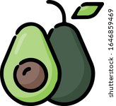 avocado food hand drawn icon | Shutterstock .eps vector #1646859469