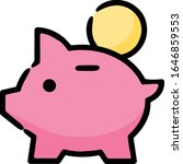piggy bank coin hand drawn icon | Shutterstock .eps vector #1646859553
