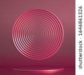 podium  pedestal in the studio. ... | Shutterstock . vector #1646861326