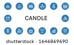 set of candle icons. such as... | Shutterstock .eps vector #1646869690