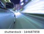 driving in the night city. | Shutterstock . vector #164687858
