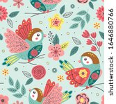 seamless pattern with beautiful ... | Shutterstock .eps vector #1646880766
