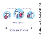 child marriage concept icon.... | Shutterstock .eps vector #1646889160