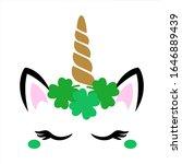 St Patricks Day Unicorn Face...