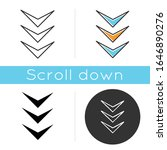 three down arrows icon. page... | Shutterstock .eps vector #1646890276