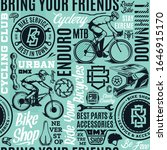 vector bicycle seamless pattern ... | Shutterstock .eps vector #1646915170