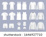 Blank White Collection Of Men's ...