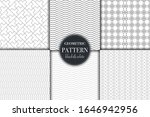 set of 6 black and white... | Shutterstock .eps vector #1646942956