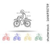 motorcyclist multi color style... | Shutterstock .eps vector #1646950759