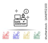gate assistant  info  airport...