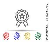 medal  award  usa multi color...