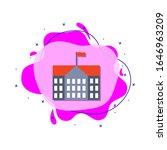 school building colored icon....