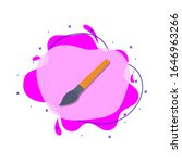 paint brush colored icon....