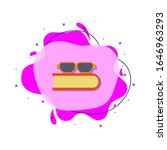 glasses and book colored icon....