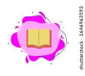 open book colored icon. simple...