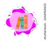 pile of books colored icon....