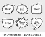 comic chat bubbles. quiz  70 ...   Shutterstock .eps vector #1646964886