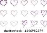 Purple Heart Contour Vector....