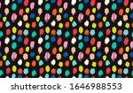 polka dot pattern. ikat... | Shutterstock .eps vector #1646988553