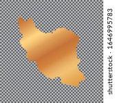 vector gold map outline of iran ... | Shutterstock .eps vector #1646995783