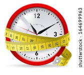clock with measuring tape as... | Shutterstock .eps vector #164699963