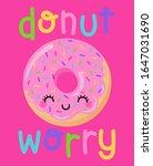 cute donut cartoon illustration ... | Shutterstock .eps vector #1647031690