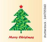 8 bit christmas tree design...   Shutterstock .eps vector #164705360