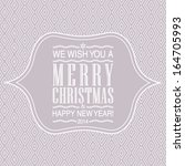 vector letterpress merry... | Shutterstock .eps vector #164705993