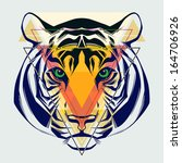 fashion illustration of tiger... | Shutterstock .eps vector #164706926