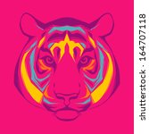 awesome portrait of tiger | Shutterstock .eps vector #164707118