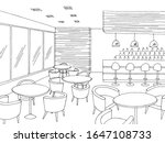 cafe interior bar graphic black ... | Shutterstock .eps vector #1647108733