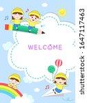 happy nursery design background ... | Shutterstock .eps vector #1647117463
