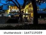 Small photo of Bellaire, Texas / United States - 02/16/2020: Betsy's at Evelyn's Park Just After Sunset