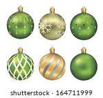 christmas bauble isolated on... | Shutterstock . vector #164711999