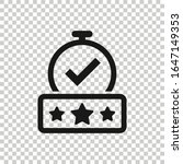 rating result icon in flat...