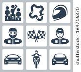vector race icons  podium ... | Shutterstock .eps vector #164716370