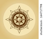 wind rose in old retro style. .   Shutterstock . vector #164717798