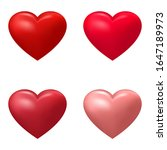 set of realistic hearts shades... | Shutterstock .eps vector #1647189973